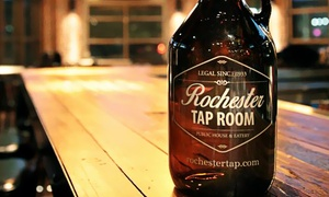 Rochester Tap Room: Gastropub Dinner or Lunch with Drinks at Rochester Tap Room (Up to 40% Off)