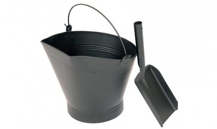 Fireplace Coal Bucket with Shovel