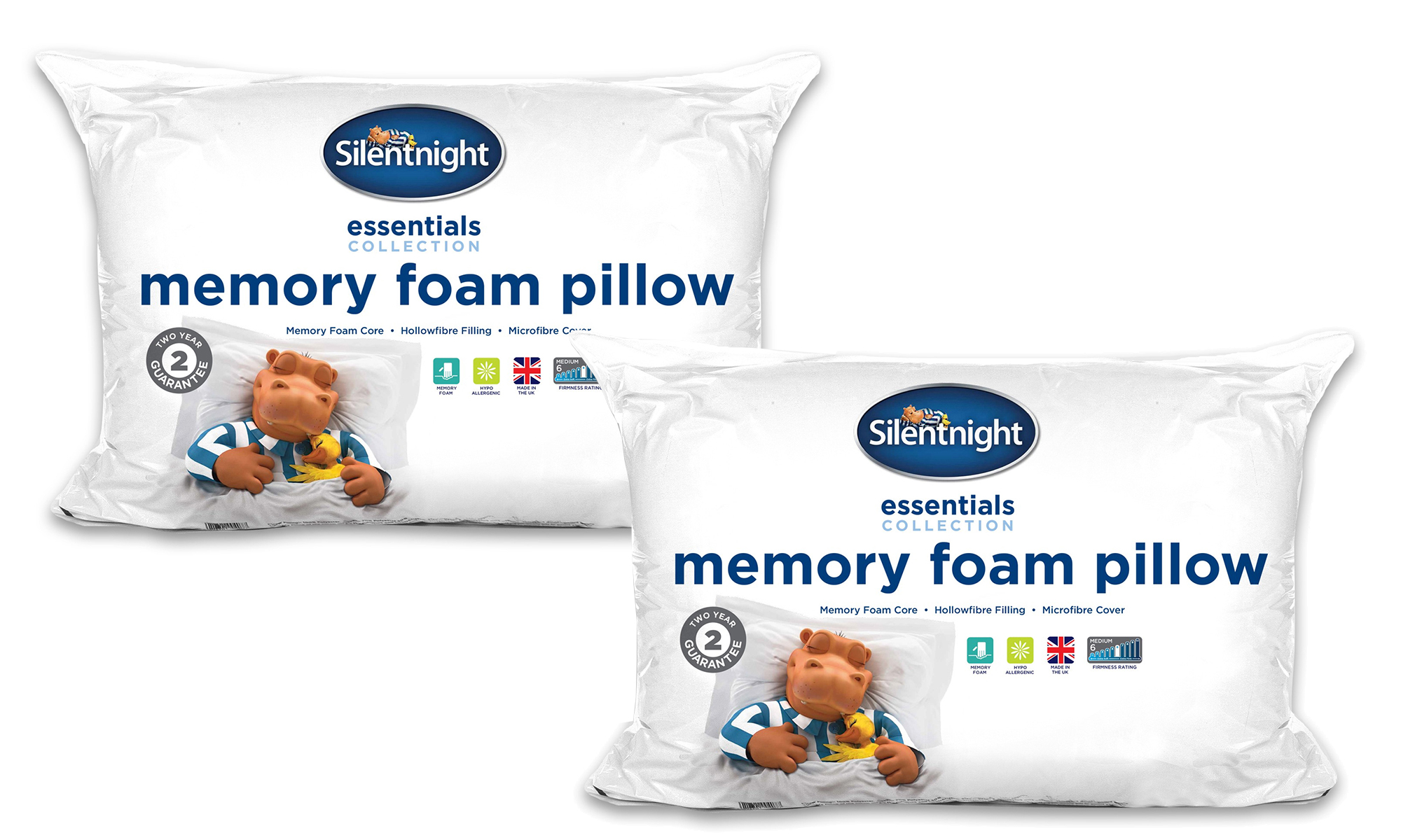 Silent Night Traditional Memory Foam Pillows : One, Two or Four Silentnight Essential Memory Foam Pillows from ?8.99 Home & Garden Furniture ...