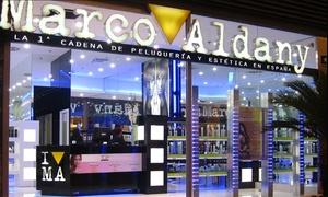 Marco Aldany: Sesión de peluquería con opción a corte, tinte, mechas de 1 o 2 tonos o tratamiento keratina desde 9,95€ en Marco Aldany