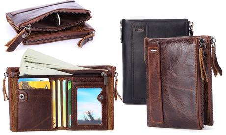 1 o 2 carteras de piel con bloqueo RFID