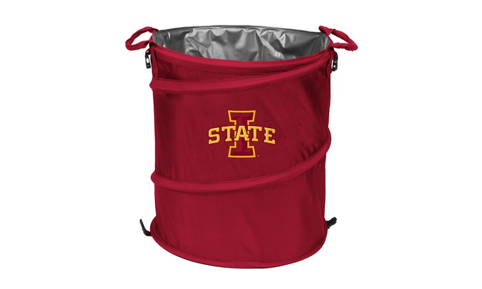 Ncaa 3 in 1 collapsible cooler clothes bin and trash can groupon - Collapsible trash bins ...