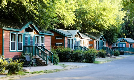 Stay for Four in an RV Campsite, Bungalow, or Cottage at Jellystone Park at Tower Park in Lodi, CA