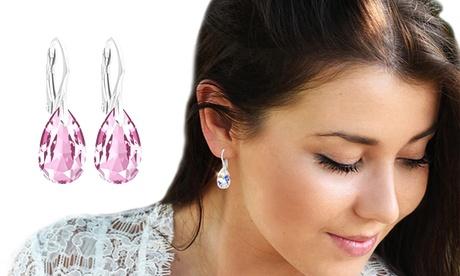 1, 2 ou 3 paires de Ah! Bijoux Boucles d'oreilles en argent avec poireavec cristaux Swarovski®