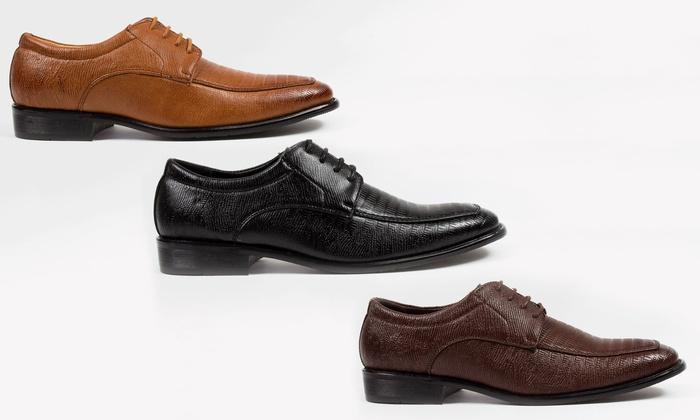 Royal Men's Crocodile Textured Dress Shoes