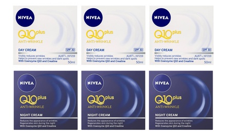 Nivea Q10 Plus AntiWrinkle Day or Night Creams: Three $26 or Six $46 Don't Pay up to $112.77