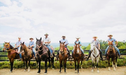 Stay at Pine Ridge Dude Ranch in Kerhonkson, NY. Dates into September.