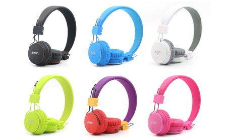 iBasics 5-in-1 Dyna-Bass Foldable Stereo Wireless Bluetooth Headphones