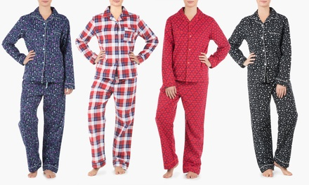 sociology women 39 s flannel pajama set 2 piece groupon exclusive was now. Black Bedroom Furniture Sets. Home Design Ideas