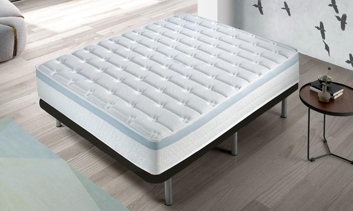 matelas visco gel groupon. Black Bedroom Furniture Sets. Home Design Ideas