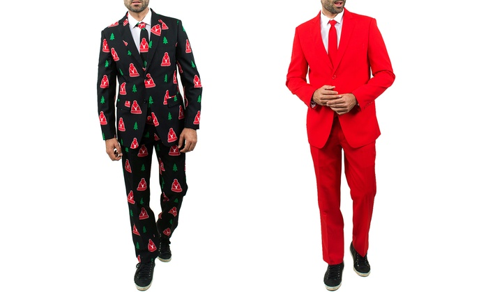 Men's Ugly Christmas Suits | Groupon Goods