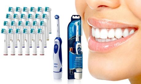 Set de cepillo Braun Oral-B y 24 cabezales de recambio compatibles