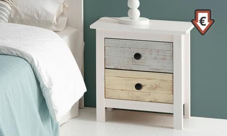 Muebles Magda de madera de pino macizo en color blanco