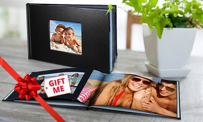 Personalised Leather-Look Photobook, Redeemable Online: 20 ($15), 40 ($19) or 60 Pages ($22) (Don't Pay up to $114.99)