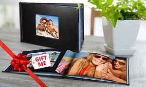 Mini Box: Personalised Leather-Look Photobook, Redeemable Online: 20 ($15), 40 ($19) or 60 Pages ($22) (Don't Pay up to $114.99)