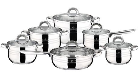 Batería de cocina de 12 piezas Gourmet Line