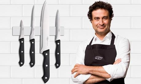 Set de 4 cuchillos de cocina de acero inoxidable de la marca San Ignacio