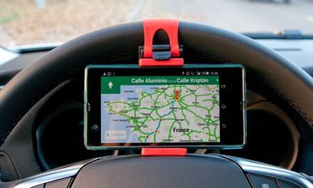 1 o 2 supporti smartphone per auto con impugnatura di silicone