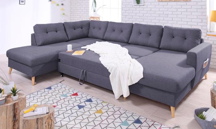 canap scandinave panoramique convertible bobochic groupon. Black Bedroom Furniture Sets. Home Design Ideas