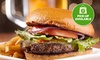 Gourmet Burger with Chips & Soft Drink (+$2.50pp Takeaway Fee)