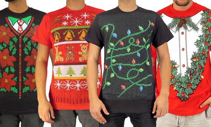 Men's Ugly Sweater Graphic Tees | Groupon Goods