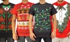 Men's Ugly Christmas Sweater Graphic T-Shirts: Men's Ugly Christmas Sweater Graphic T-Shirts