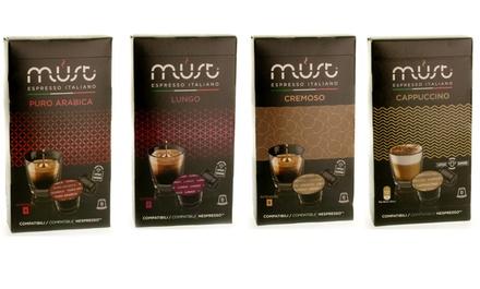 40 Nespresso Compatible Capsules Espressos, Coffees, Black Teas, Herbals and Fruit Teas