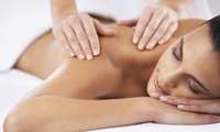 Back, Neck and Shoulder Massage with Manicure or Pedicure at Indulge