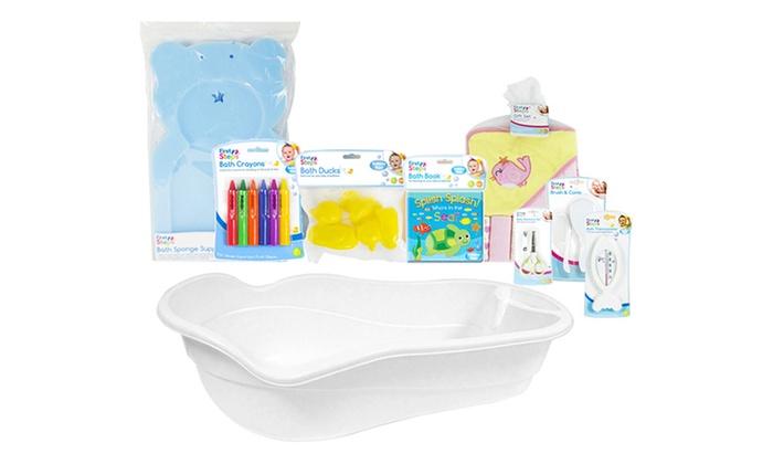 first steps bath time essentials groupon goods. Black Bedroom Furniture Sets. Home Design Ideas