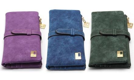 1 o 2 carteras de piel suave de para mujer