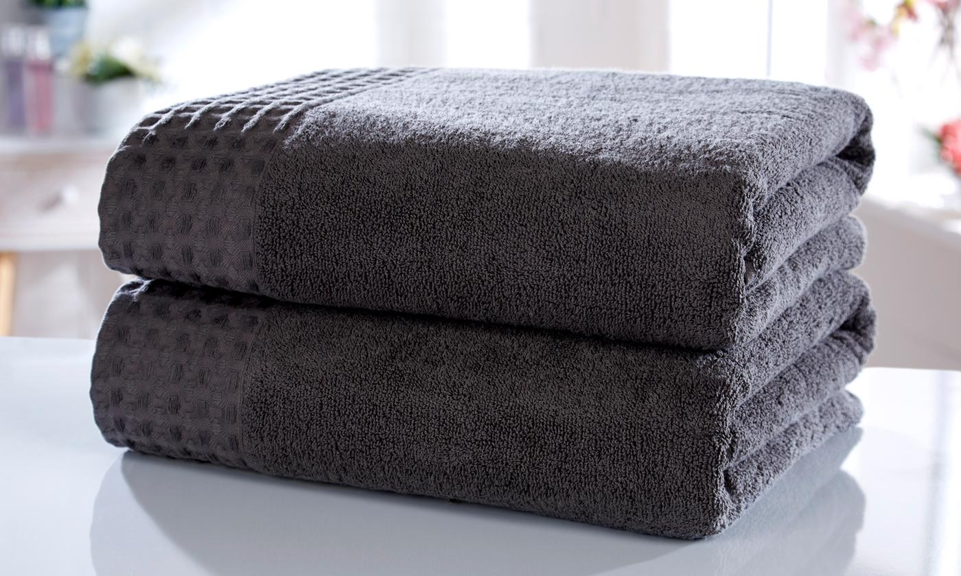 Rapport Home Two-Piece 550gsm Retreat Spa Grade Bath Sheet Bale
