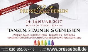 Presseball Berlin: Exklusives Ticket zum Bestpreis für den Presseball Berlin inkl. Speisen und Getränke am 14.Januar 2017 im Maritim Hotel