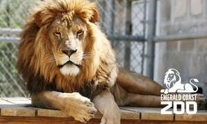 Up to 50% Off Admission to Emerald Coast Zoo at Emerald Coast Zoo, plus 6.0% Cash Back from Ebates.