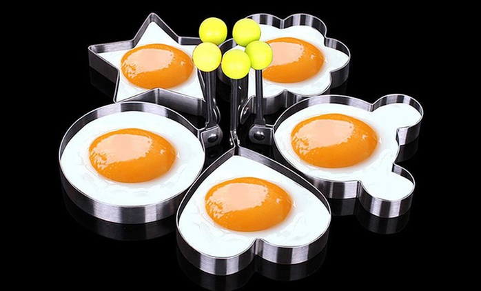 5-Piece Stainless-Steel Omelette Mould from AED 39 (Up to 65% Off)