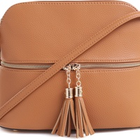 MKII Womens Bella Tassel Charm Crossbody Purse