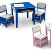 Delta Children Jack and Jill Storage Table and Chairs Set