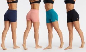 Marika Women's High-Waisted Double Strap Shorts