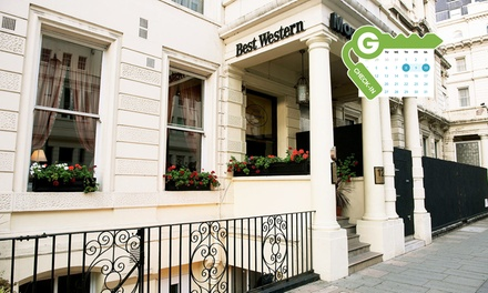 London: Double Room for Two with Breakfast, Welcome Drink, and Late CheckOut at 4* Best Western Mornington Hotel