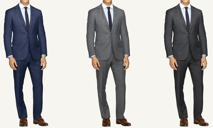 Braveman Men's Slim Fit Sharkskin Suits (2-Piece)