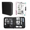 Manicure and Pedicure Set with Leather Travel Case (20-Piece)