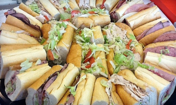Lee's Hoagie House - Multiple Locations: Small Catering Tray of Custom-Made Hoagies for Up to 10 (52% Off)