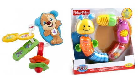 One or Two FisherPrice Laugh and Learn Toys: Go Puppy Keys, SnapLock Caterpillar or Both