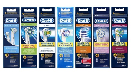 Four or Eight Braun OralB Replacement Toothbrush Heads