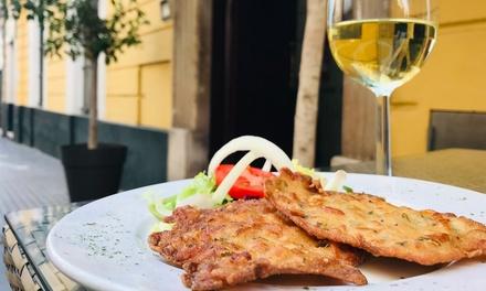 Menú para 2 o 4 personas con entrante, principal, postre y bebida desde 29,95 € en Restaurante Hotel Las Cortes de Cádiz