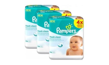 768 Lingettes pour bébé Pampers Fresh Clean
