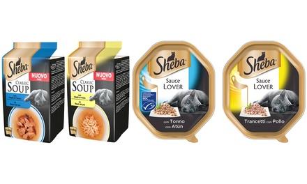 Cibo per gatti Sheba Sauce e classic soup disponibili in varie quantità e gusti
