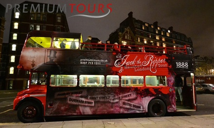 Jack the Ripper, Haunted London and Sherlock Holmes Bus Tour Ticket with Premium Tours (Up to 50% Off) (London)
