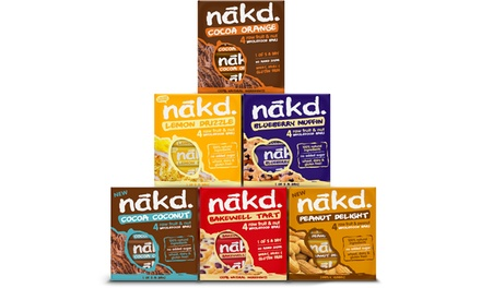 24 or 48 NAKD Yummy Bars in 6 Flavours