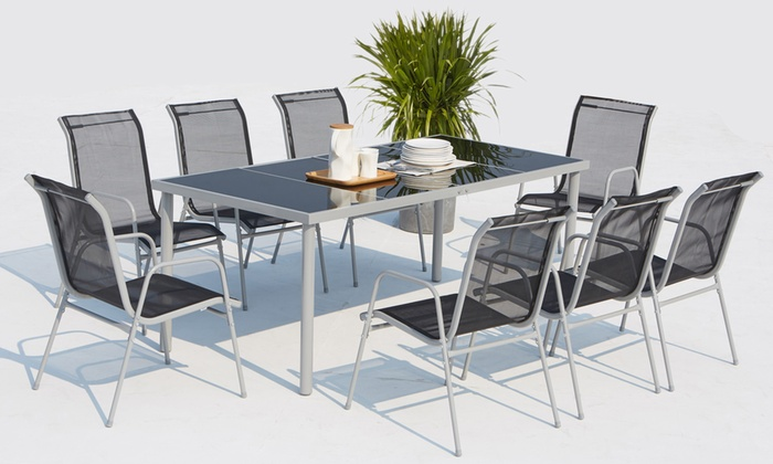 Salon de jardin Malaga 6 ou 8 chaises | Groupon Shopping