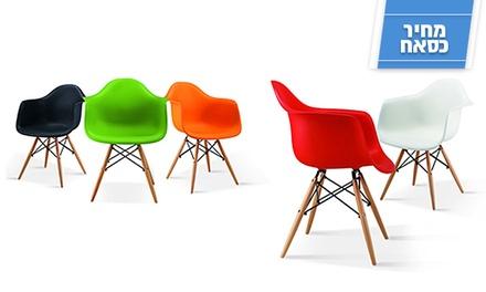 כסאות מעוצבים ונוחים לפינת האוכל ולמשרד בעלי רגלי עץ אלון מלא, ב-2 דגמים